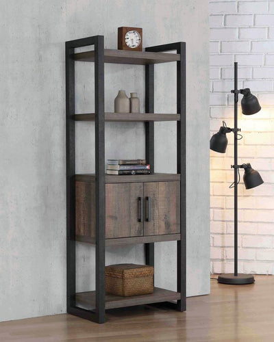802085 BOOKCASE W/ STORAGE