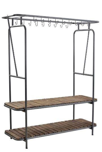 980007 CLOTHES AND SHOE STANDING RACK