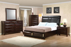 200419KE-S5 E KING 5PC SET (KE.BED,NS,DR,MR,CH)