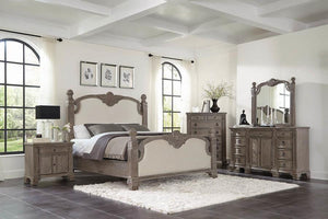 215681Q-S4 4PC QUEEN BED SET