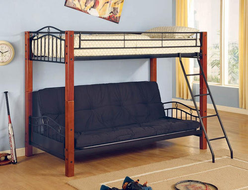 2249 TWIN / FUTON BUNK BED