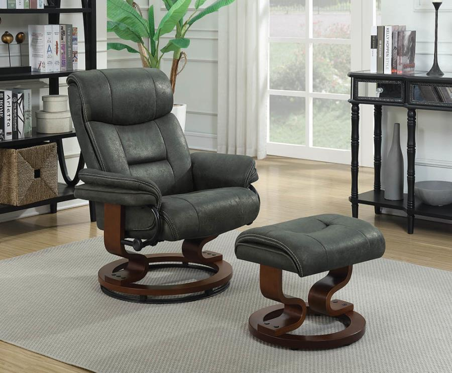 600434 CHAIR WITH OTTOMAN