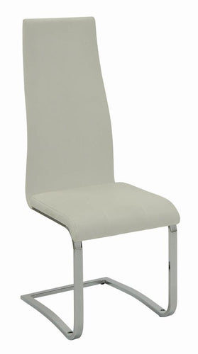 100515WHT DINING CHAIR