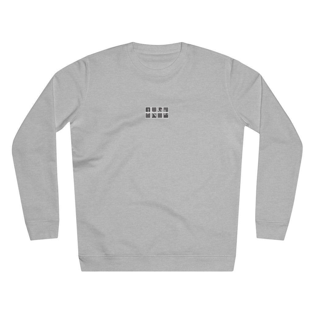 JNGL Clothing - The Vintage Sweater // Grey & Fossil // Heather Grey - Front (stock)