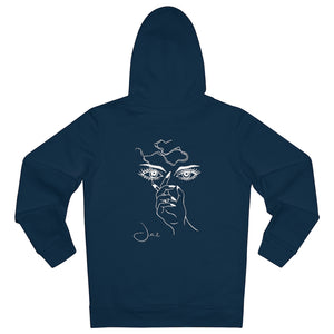 JNGL Clothing - Masterpiece of Art hoodie // French Navy - Back (stock)