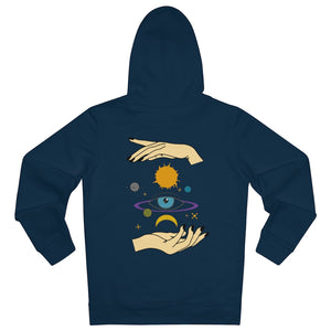 JNGL Clothing - Eye Space hoodie // French Navy - Back (stock)