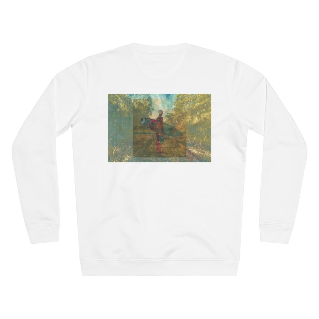 JNGL Clothing - The Playground Sweater // White - Back (Stock)