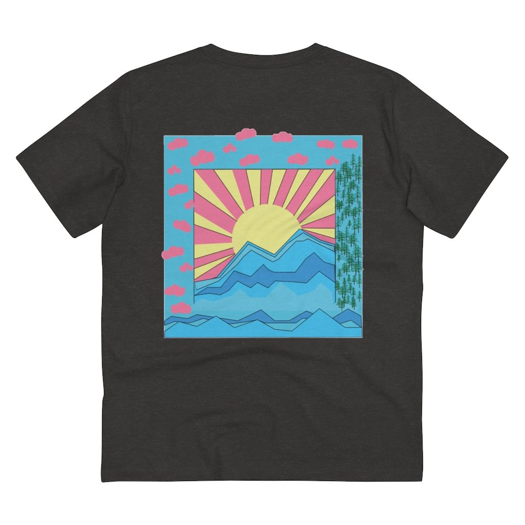 COLORFUL SUNRISE T-SHIRT // DARK HEATHER GREY
