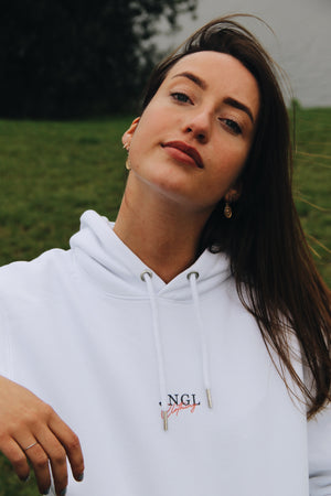 JNGL Clothing - Masterpiece of Art hoodie // White - Front (stock)