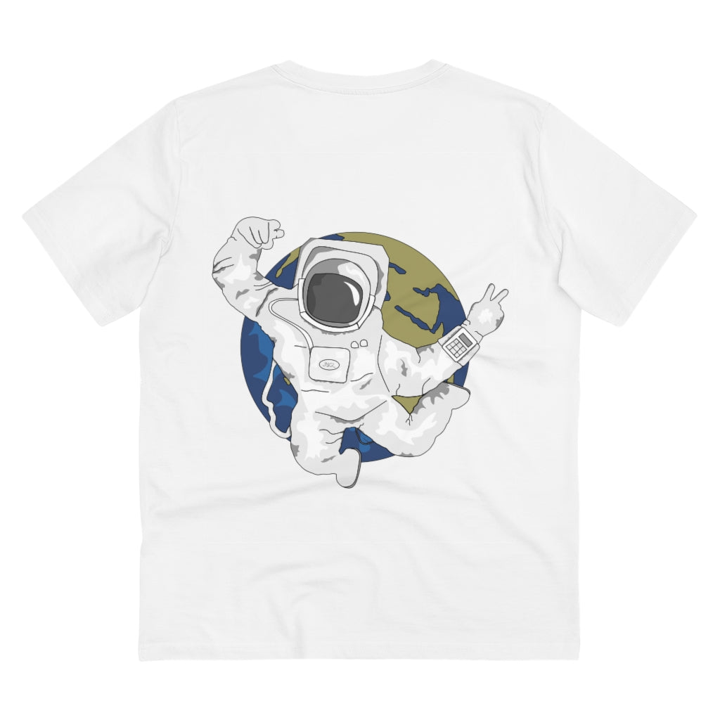 JNGL Clothing - AstroEarth T-Shirt // White - Back