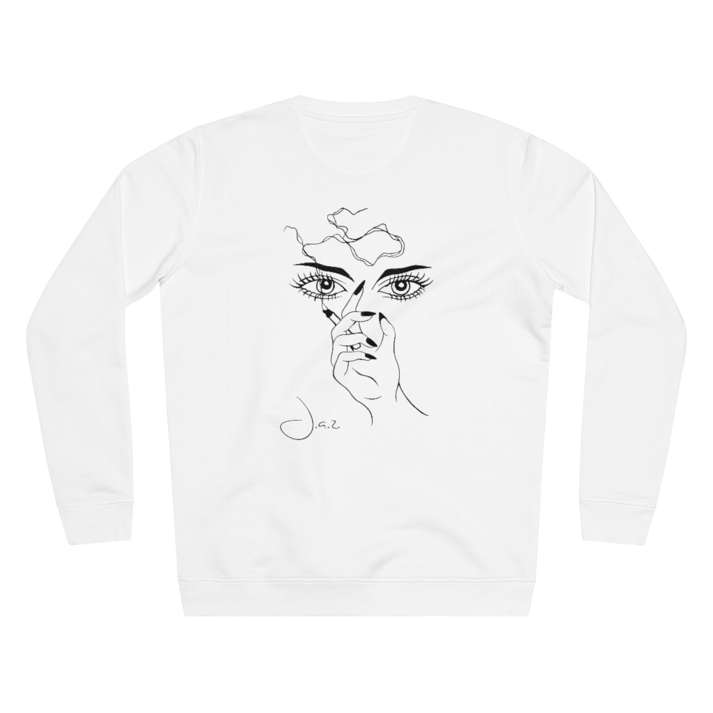 JNGL Clothing - Masterpiece Of Art Sweater // White - Back (Stock)