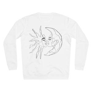 JNGL Clothing - Sun Moon Art Sweater // White - Back (Stock)