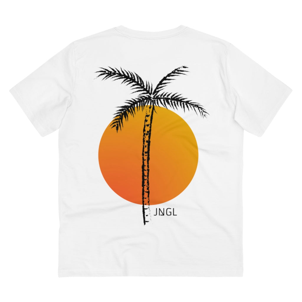 JNGL Clothing - Palm Tree T-Shirt // White - Back