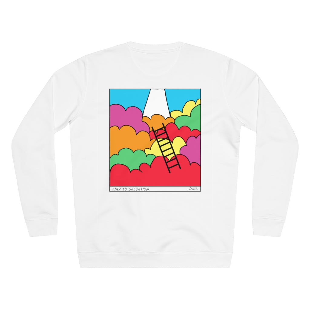 JNGL Clothing - Way To Salvation Sweater // White - Back (Stock)
