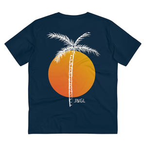 JNGL Clothing - Palm Tree T-Shirt // French Navy - Back