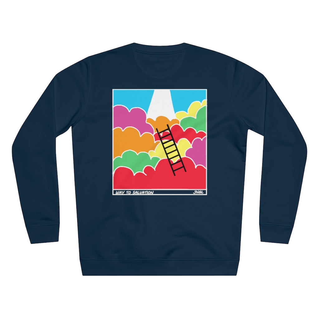 JNGL Clothing - Way To Salvation Sweater // French Navy - Back (Stock)