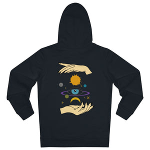 JNGL Clothing - Eye Space hoodie // Black - Back (stock)
