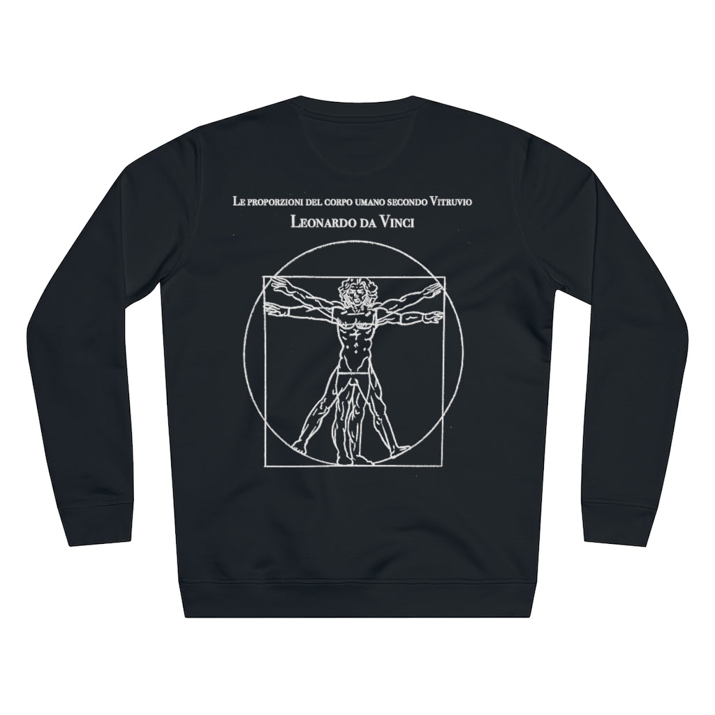 JNGL Clothing - Leonardo Da Vinci Sweater // Black - Back (Stock)