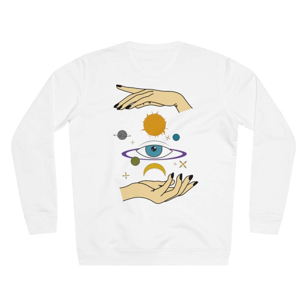 JNGL Clothing - Eye Space Sweater // White - Back (Stock)