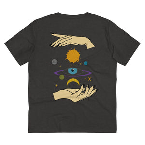 JNGL Clothing - Eye Space T-Shirt // Dark Heather Grey - Back