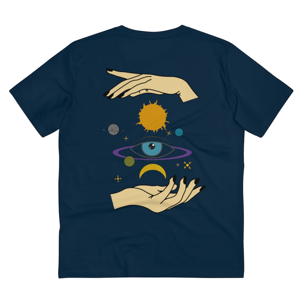 JNGL Clothing - Eye Space T-Shirt // French Navy - Back