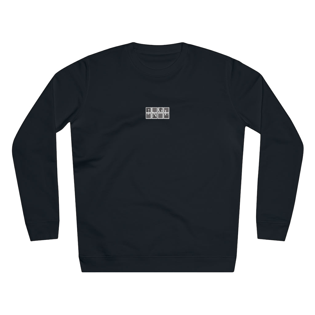 JNGL Clothing - The Vintage Sweater // Grey & Fossil // Black - Front (stock)