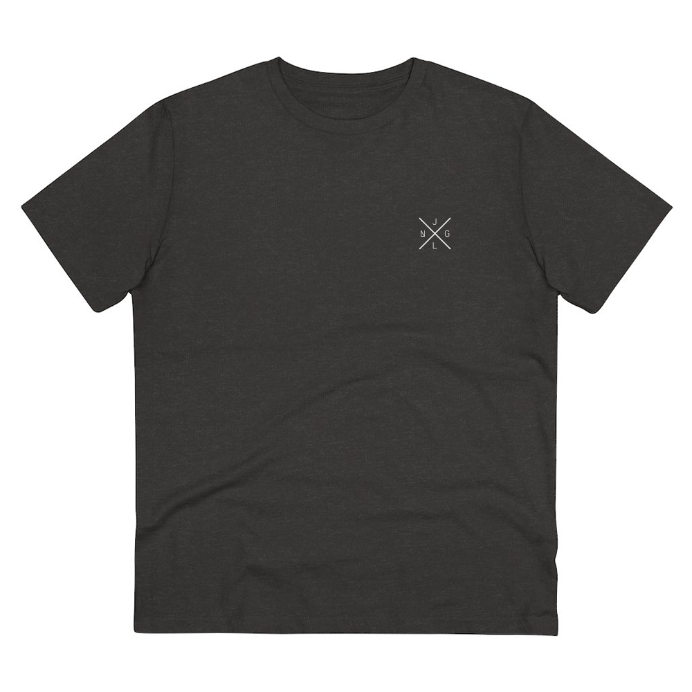 JNGL Clothing - Eye Space T-Shirt // Dark Heather Grey - Front