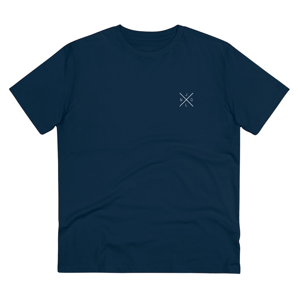 JNGL Clothing - AstroEarth T-Shirt // French Navy - Front