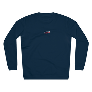 JNGL Clothing - Sun Moon Art Sweater // French Navy - Front (Stock)