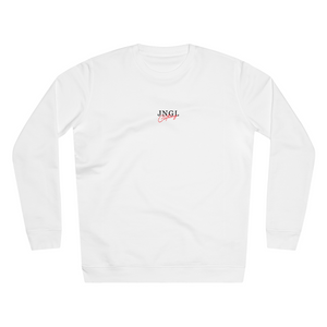 JNGL Clothing - Sun Moon Art Sweater // White - Front (Stock)