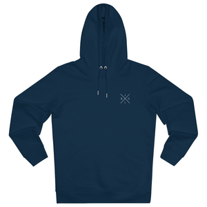 JNGL Clothing - The Classic V1 hoodie // French Navy - Front (stock)