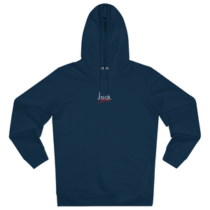 JNGL Clothing - Masterpiece of Art hoodie // French Navy - Front (stock)