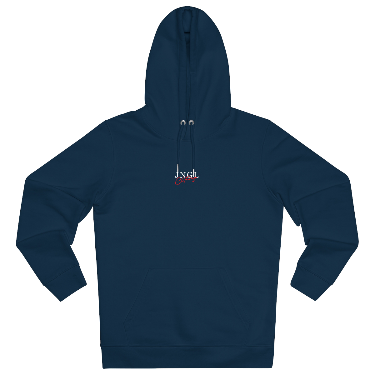 JNGL Clothing - Palm Tree hoodie // French Navy - Front (stock)