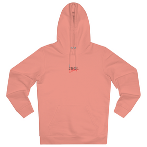 JNGL Clothing - Eye Space hoodie // Sunset Orange - Front (stock)