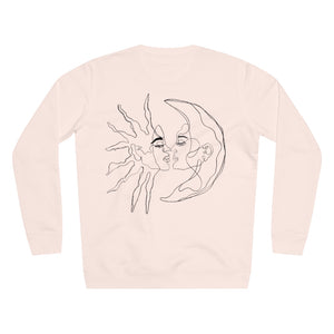 JNGL Clothing - Sun Moon Art Sweater // Candy Pink - Back (Stock)