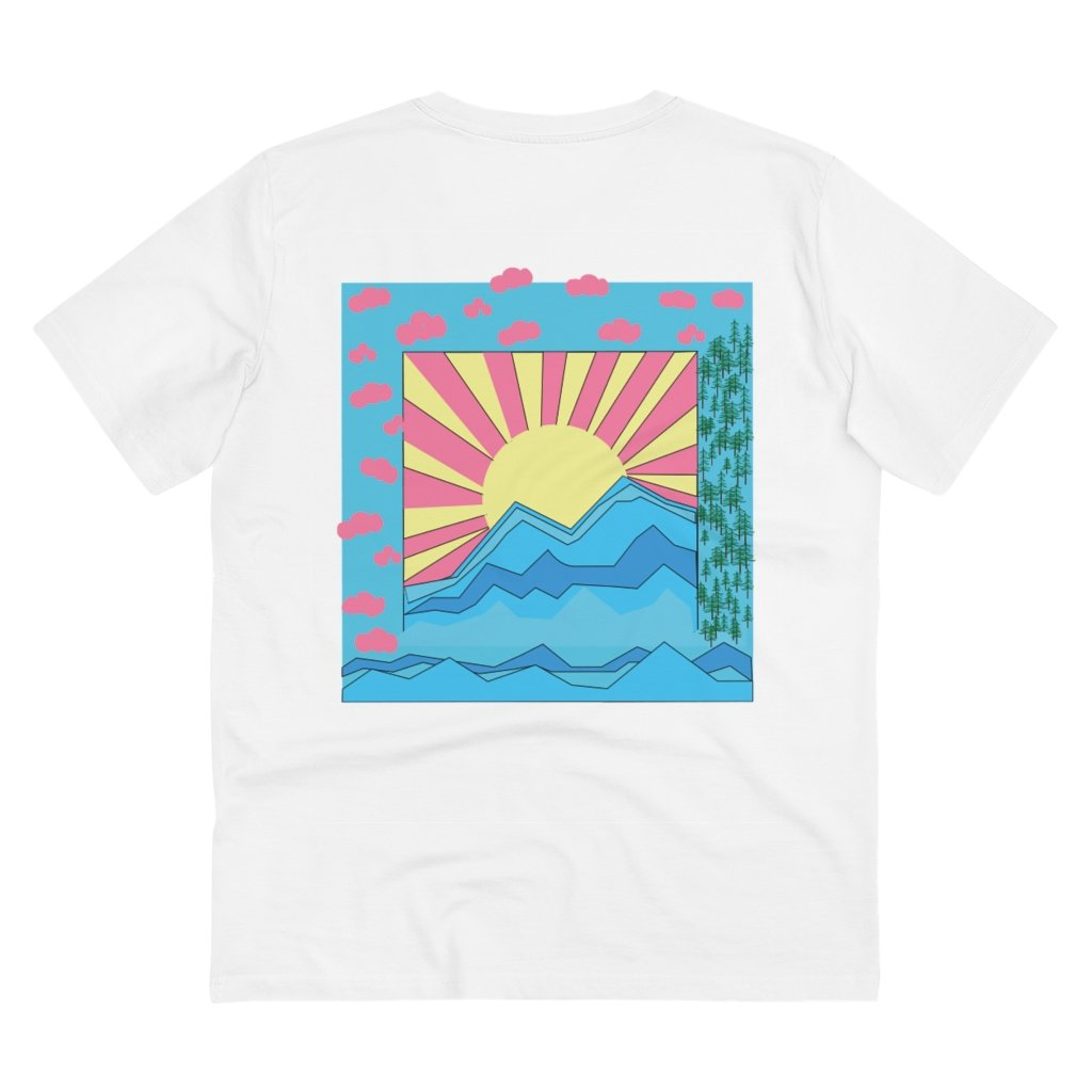 COLORFUL SUNRISE T-SHIRT // WHITE
