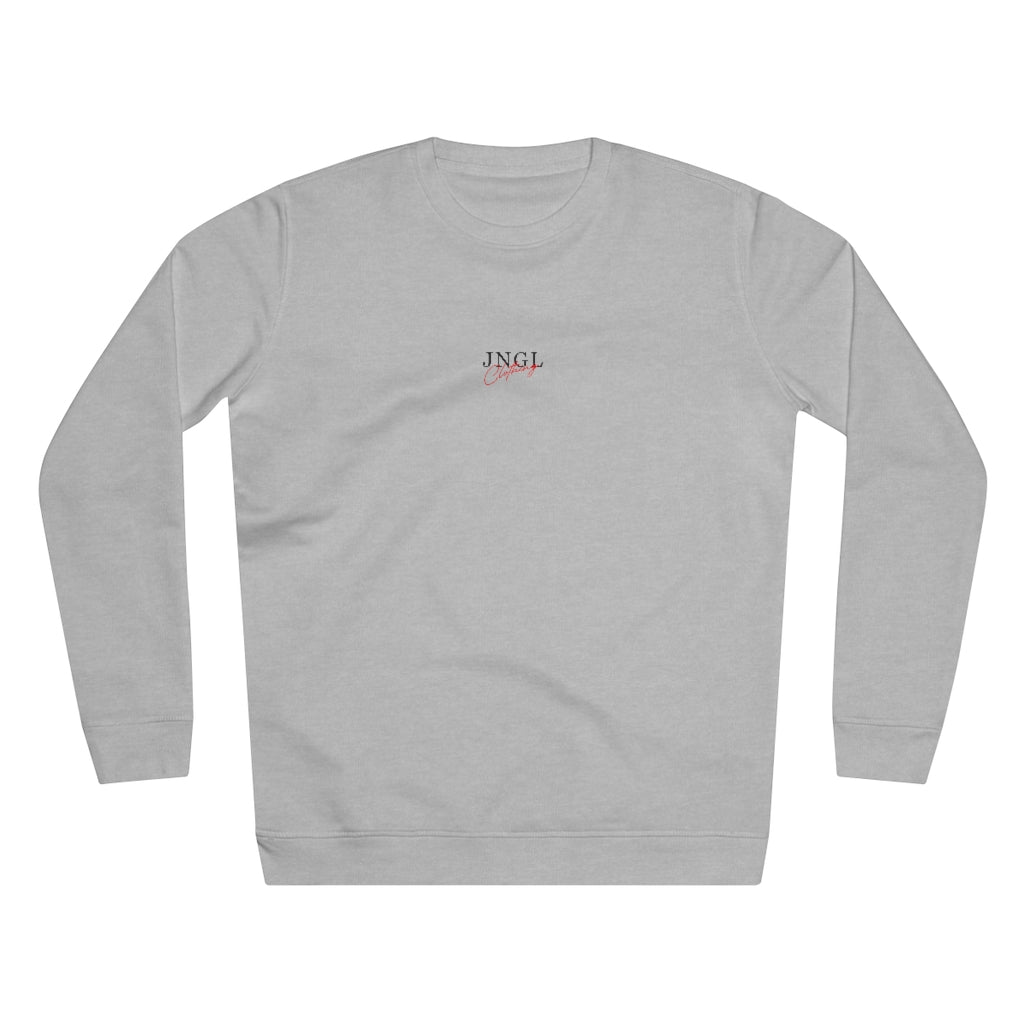 JNGL Clothing - The Playground Sweater // Heather Grey - Front (Stock)