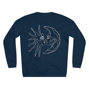JNGL Clothing - Sun Moon Art Sweater // French Navy - Back (Stock)