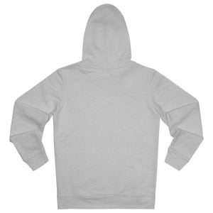 JNGL Clothing - The Vintage Hoodie // Grey & Fossil // Heather Grey - Back (stock)