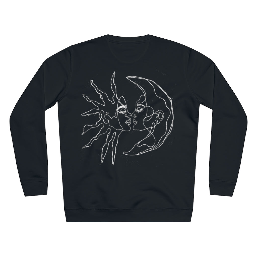 JNGL Clothing - Sun Moon Art Sweater // Black - Back (Stock)