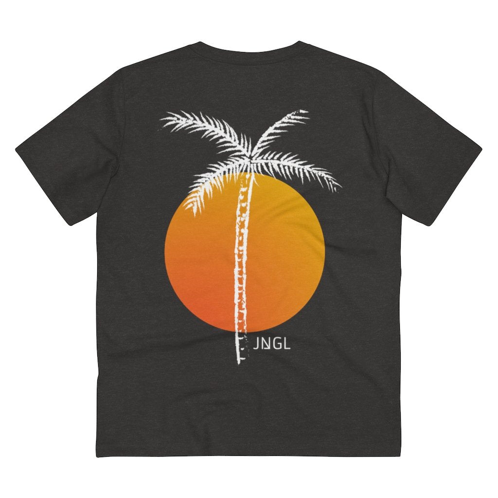 PALM TREE T-SHIRT // DARK HEATHER GREY