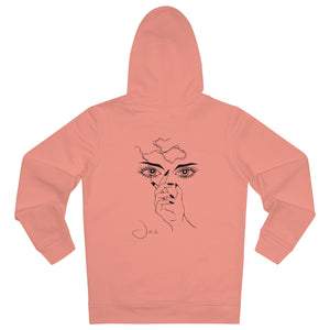 JNGL Clothing - Masterpiece of Art hoodie // Sunset Orange - Back (stock)