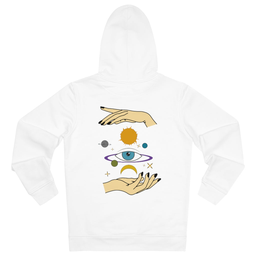 JNGL Clothing - Eye Space hoodie // White - Back (stock)
