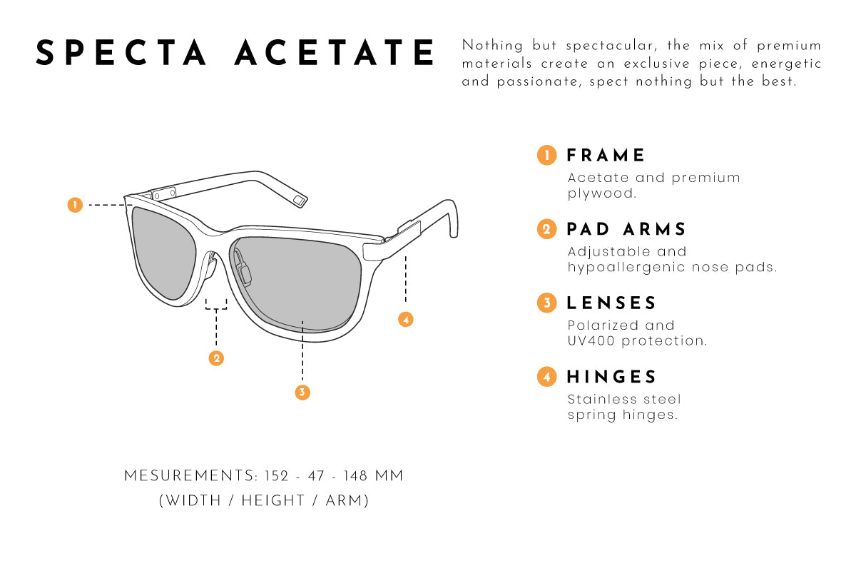 Specta acetate sunglasses