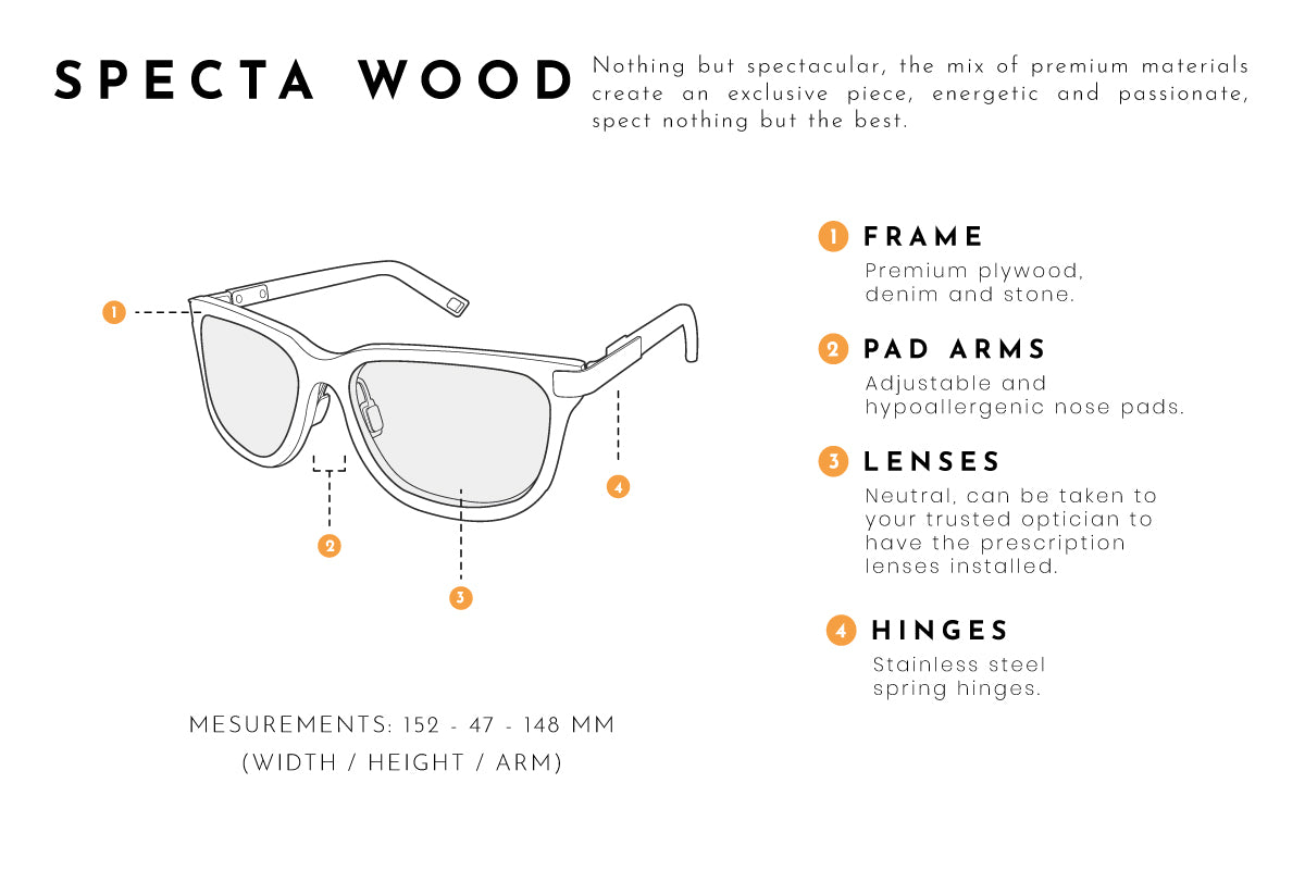 Specta wood eyeglasses