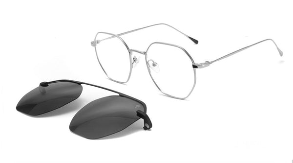 CLIP ON 1034 EYEGLASSES WITH SUN LENSES