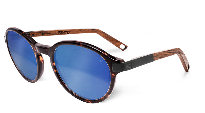 Tortoise/Teak - Black - Blue