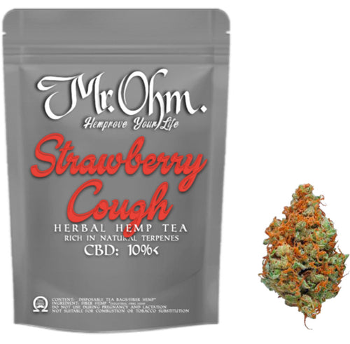 Strawberry Cough - HERBAL HEMP TEA - 3gr 100% CBD Tea
