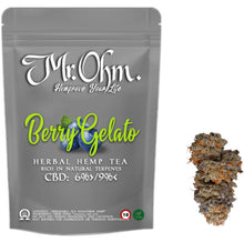 Load image into Gallery viewer, Berry Gelato - HERBAL HEMP TEA - 3gr 100% CBD Tea
