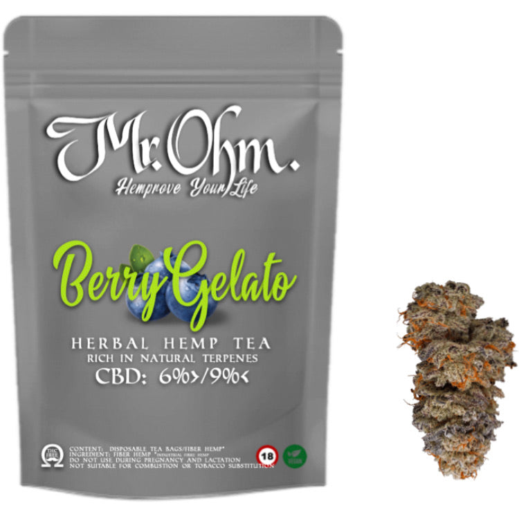 Berry Gelato - HERBAL HEMP TEA - 3gr 100% CBD Tea